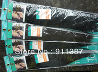 Wholesale Premium Too Yaki hair weft human hair mix synthetic hair weaving blended hair extemsion