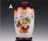 Wholesale 11 quot Jingdezhen Ceramic Porcelain Variable Glaze Vase Guanyao Porcelain Vase Styles