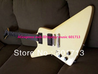 Wholesale Left Hand Guitar Newest White Explorer Electric Guitar