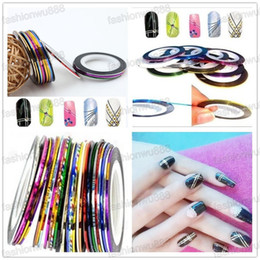 Wholesale Hot Sale Mixed Colors Rolls Striping Tape Line DIY Nail Art Tips Decoration Sticker