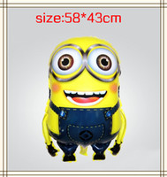 Wholesale New design Balloons party decoration Cartoon Minion helium foil balloon inflatable ball Christmas Baby toys