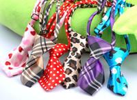 Wholesale Hot Sale dog pet cat bow tie necktie collar mixed different color
