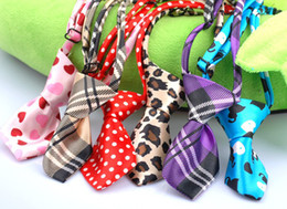 Wholesale Hot Sale dog pet cat bow tie necktie collar mixed different color
