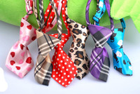 Wholesale Hot Sale Adjustable Pet Dog Cat Handmade Bow Tie Necktie Neck Collar Cute gift patterns for choose