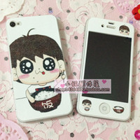 Wholesale Apple iPhone4s phone cartoon film color film Pearl striae cute cute little Q personalized stickers