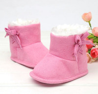 fluffy boot - Princess Baby Girls Winter Wear Fluffy Bowknot Snow Boot Infant Outwear Shoes Learning Toddle Butterfly Flower First Walker Shoes D1089