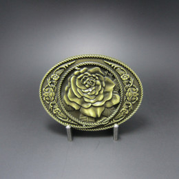 Vintage Bronze Rose Western Oval Belt Buckle BUCKLE-3D059AB Free Shipping Brand New In Stock