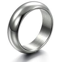 Wholesale Jewelry brief white glossy male titanium ring