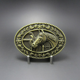 Wholesale Vintage Bronze Western Horse Saddle Oval Belt Buckle BUCKLE WT089AB Brand New In Stock