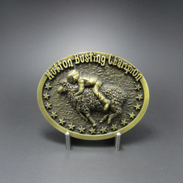 Vintage Bronze Mutton Busting Champion Belt Buckle BUCKLE-WT106AB Free Shipping Brand New In Stock