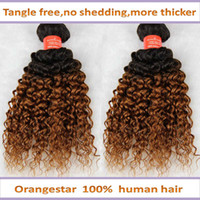 Wholesale Ombre Color Curly Hair Two Tone Colored b Hair Extension Brazilian Human Remy Hair weave inch braid hair weft