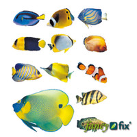 Wholesale retail wall decal fish shoal vinyl wall art girls and boys playrooms cm piece XFG049