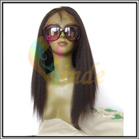 Wholesale Custom Made Relaxed Texture Virgin Brazilian Hair Glueless Full Lace Wig Large Cap