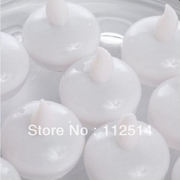 Wholesale 36pcs water activated round LED floating candle tea light for pool decoration