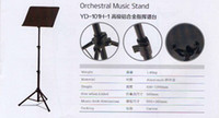 Wholesale High Quality Aluminium Orchestra Music Stand YD H for Advanced player and Symphony orchestra palyer