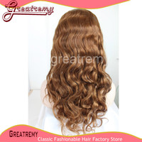 Remy Lace Front Wig Color #4 Body Wave 100% Brazilian Human ...