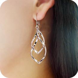 Wholesale OE0242 Korean small jewelry super shiny bicyclic Hoop earrings earrings women earring plating bright bicyclic