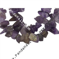 Wholesale Natural Amethyst Chips Dyed Purple about mm long about quot strand