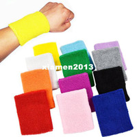 Wholesale New Colors Wrist Support Sport Cotton Basketball Tennis Volleyball Badminton Sweatband Wristband Gymnastics