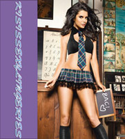 Wholesale High Quality Classic N8703 Sexy Innocent Schoolgirl Costume School Girl Uniform With Black Bra