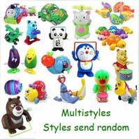 Wholesale Baby Kids Cute Twist Forward Movement Clockwork Spring Winter Toy Multistyles Multicolors