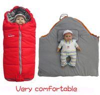 Cheap red baby blanket Best 98*62*43 4M-6M boys sleep bags