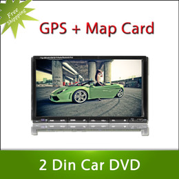 Wholesale Free shiping Inch Car DVD Player with GPS Universal Double Din IN Radio Bluetoth G Ipodl