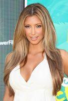 Cheap Celebrity Kim Kardashian Remi Full Lace Wigs Cheap Two Tone Middle Part Brazilian Virgin Natural Straight Human Hair Blonde Wig