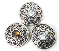 Wholesale Free drop shipping hot selling noosa acrylic button DIY snap noosa metal chunks charms for Noosa jewelry