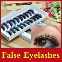 Wholesale Pairs Natural False Eyelashes Hand Made Thick Long False Eyelashes Cross Eyelash Voluminous