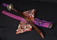 Wholesale ASIASWORDS Hand Forged Red Steel Japanese Dragon Samurai Warrior Katana Sword