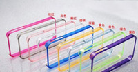 Wholesale 0 MM Super Thin Bumpers Frame for iphone S Slim PC Transparent Clear Flexible Hard Case Bumper For iPhone S iPhone S MOQ