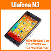 Android GSM850 Smartphone Ulefone N3 N9002 Note 3 MTK6589 Quad Core 1.2GHz 5.7 Inch HD Screen Android 4.2 Smart Phone 13.0MP Camera 3G GPS 8GB OTG via epack (0301166)