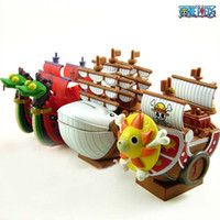 Multicolor PVC GK Wholesale -EMS Hot sale Brand New 3 Styles One Piece Figures Pirate Ship Piggy Bank Money Box Free Shipping 11cm
