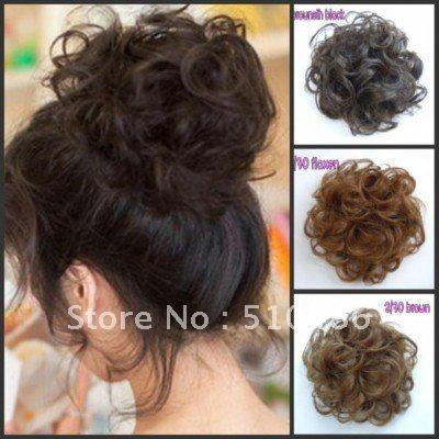 Curly Bun Hair Pieces Woman Curly Hair Bun Ring