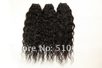Wholesale Virgin Brazilian Curly Human Hair Extensions Water Wave Weaving Remy Hair Welf DHL