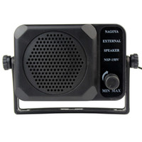 Wholesale New Black CB Radios Mini External Speaker NSP v ham For ICOM Yaesu J0075A
