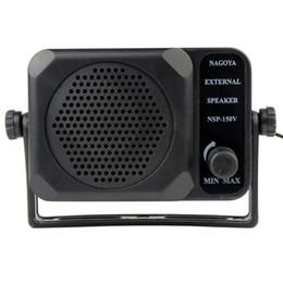 Wholesale Car CB Radios Mini External Speaker NSP v Ham For ICOM Yaesu Black J0075A