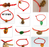 Wholesale On sale jewelry shop lucky small fish red rope single pendant plastic resin bracelets
