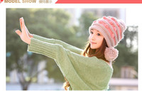 Wholesale Hot new winter fashion Woman Fashion peas double ball knitted hat BAF018