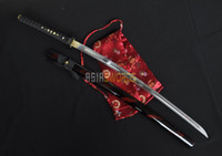 Wholesale ASIASWORDS Real Hand Forged Cut Bamboo Musashi T10 Japanese Samurai Katana Sword