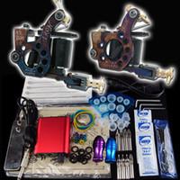 Wholesale Beginner Tattoo Kit Handmade Tattoo Machine Gun Power Supply Foot Pedal Needle Grip Tip