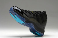 Wholesale super quality fashion gamma blue Men s Basketball Athletic Sport Shoes black blue us size