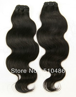 Wholesale AAAA quot quot quot Pack Brazilian Virgin Human Hair Body Wavy Remy Weaving Hair Extension DHL