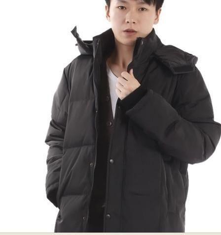 Wholesale - Long Thicken Men Winter Coat Black Down Jacket Plus Size XXL Mens Parka Coats Male Full Length Outwear Korean Overcoats Christmas Sale