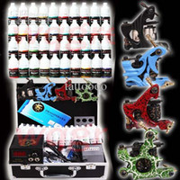 Wholesale Complete Tattoo Kits Tattoo Machines Guns Colors Tattoo Ink Sets Tattoo Power Supply Tattoo Needles Starter Beginner Tattoo Kit