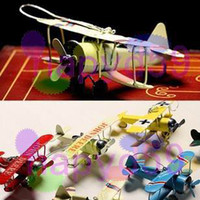 Wholesale World War I biplane glider metal bunk small aircraft model airplane aeroplane toy shoot props bar furnishings accessories ornaments crafts