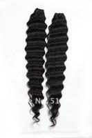 Wholesale 4pcs Soft Deep Wave Virgin Brazilian Wavy Human Hair Extension Virgin Remy Hair Welf