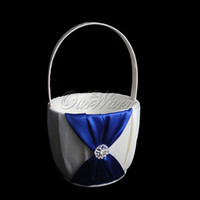6 colors for selection baskets - Flower Girl Basket Satin Ring Pillow For Wedding Ceremoney Colors For Selection JZ