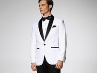 Actual Images Customize Polyester 2014 New Year Fashion White men's dress Color butyl process Shawl collar groom wedding suit wedding suits for men